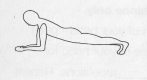 Back exercises: Plank